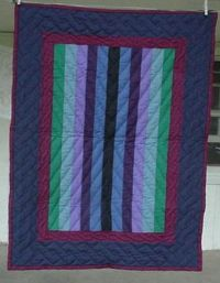 Amish Country Collectible Handmade Quilted Amish Bar Throw / Crib Quilt