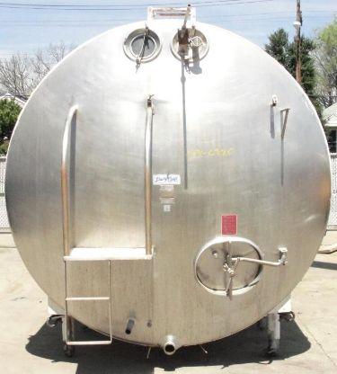 Stainless Steel Tanks: Used Dairy Craft 6000 gallon horizontal