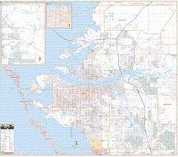 Bradenton Manatee County Florida Wall Map 2012