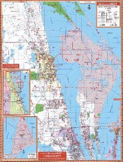 Brevard County North Florida Wall Map