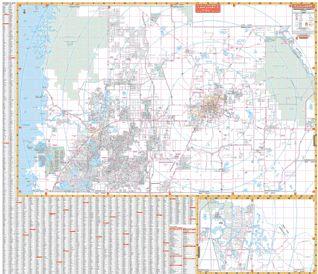 Hernando Florida Map.Hernando Florida Wall Map