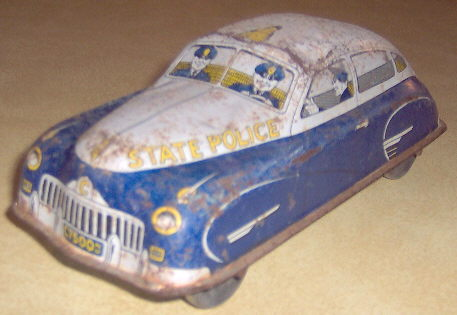 State Police Tin Toy Car