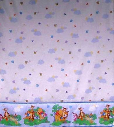 winnie the pooh fabric shower curtain