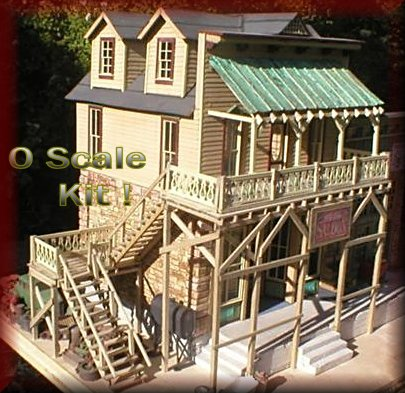 The Red Dog Saloon O Scale Kit by Consortium Model Works