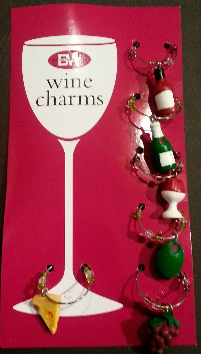 Boston Warehouse Holiday Wine Glass Charm Set