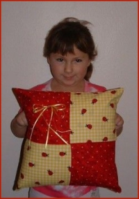 children sewing projects include a pillow