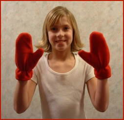 fleece mittens are one of our kids sewing patterns