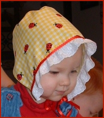 bonnet is a very simple sewing project