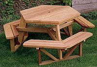 hexagon picnic table wood plans